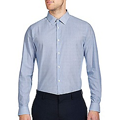 Burton - Slim blue stripe formal shirt