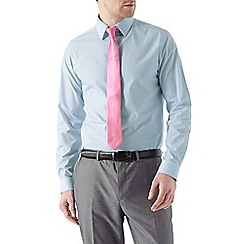 Burton - Blue slim shirt & tie set