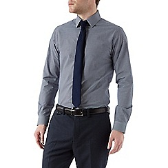 Burton - Navy slim check shirt & tie set