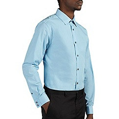 Burton - Aqua blue tailored fit smart shirt