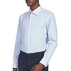 Burton - Blue tailored fit smart shirt
