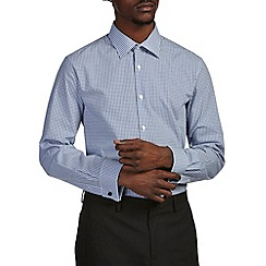 Burton - Tailored navy check shirt