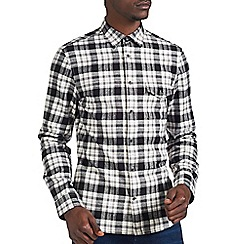 Burton - Grey & black check shirt