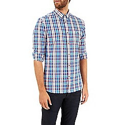 Burton - Long sleeve blue and pink check shirt
