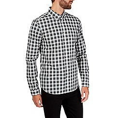 Burton - Long sleeve green smart check shirt