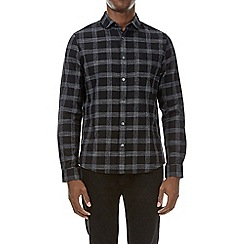 Burton - Black and white long sleeve checked shirt