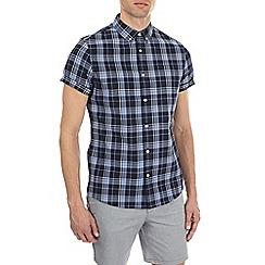 Burton - Blue short sleeve check shirt