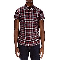 Burton - Berry short sleeve oxford check shirt