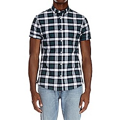 Burton - Short sleeve green check oxford shirt