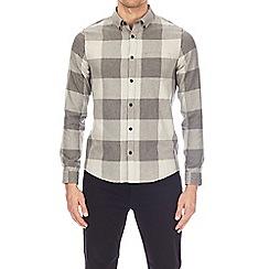 Burton - Grey buffalo checked long sleeve shirt