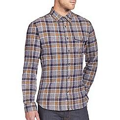 Burton - Yellow & grey check shirt