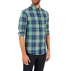 Burton - Long sleeve navy and green check shirt