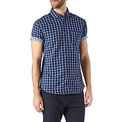 Burton - Short sleeve indigo check shirt