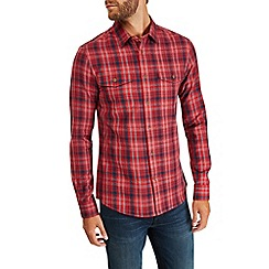 Burton - Long sleeve red check shirt