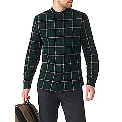 Burton - Green check grandad shirt