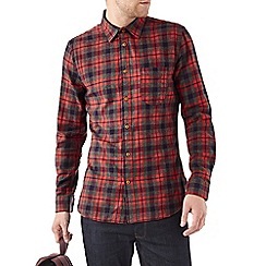 Burton - Orange & grey check shirt