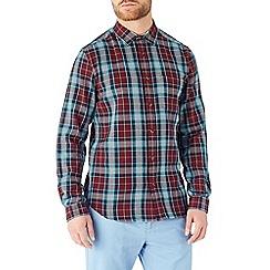 Burton - Long sleeve red and blue check shirt