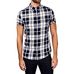 Burton - Indigo short sleeve check shirt