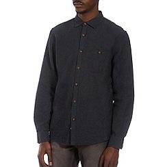 Burton - Navy long sleeve linen shirt