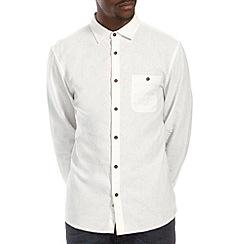 Burton - White long sleeve linen shirt
