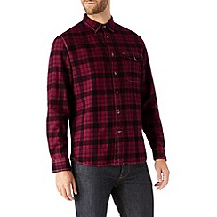 Burton - Burgundy & black check shirt