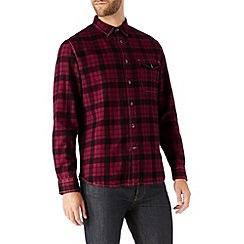 Burton - Burgundy & black check shirt