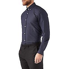 Burton - Navy smart print shirt