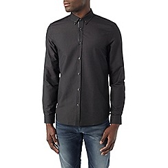 Burton - Long sleeve black textured shirt