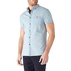 Burton - Short sleeve bleach denim shirt