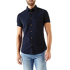 Burton - Short sleeve indigo stitch shirt