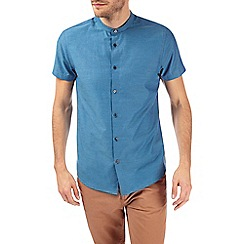 Burton - Teal textured short sleeve shirt