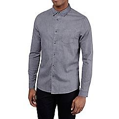 Burton - Charcoal long sleeve stretch denim shirt