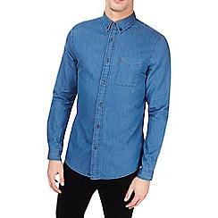 Burton - Mid wash long sleeve denim shirt