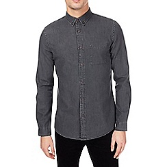 Burton - Charcoal long sleeve denim shirt