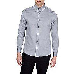 Burton - Grey long sleeve tipped collar shirt
