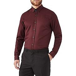Burton - Burgundy textured shirt with contrast detailing