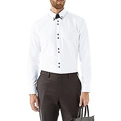 Burton - White textured shirt with contrast detailing