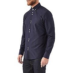 Burton - Navy double collared shirt
