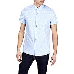 Burton - Light blue short sleeve jacquard shirt