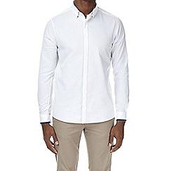Burton - White long sleeve grosgrain shirt