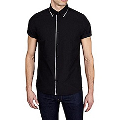 Burton - Black short sleeve tipped shirt