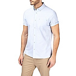 Burton - Blue short sleeve dobby shirt