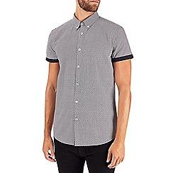 Burton - Monochrome zig zag print short sleeve shirt