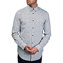 Burton - White long sleeve floral print shirt