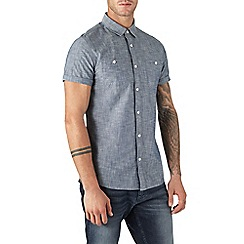 Burton - Short sleeve mid wash denim shirt