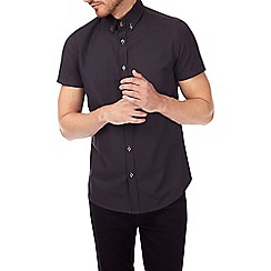 Burton - Black short sleeve tip collar shirt