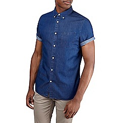 Burton - Dark wash short sleeve denim shirt
