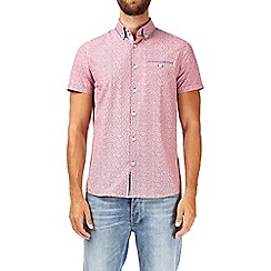 Burton - Red short sleeve floral stripe shirt
