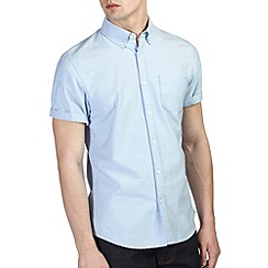 Burton - Blue short sleeve oxford shirt