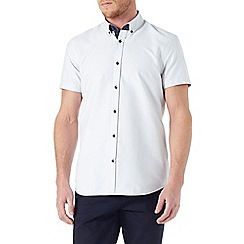 Burton - Short sleeve white textured shirt